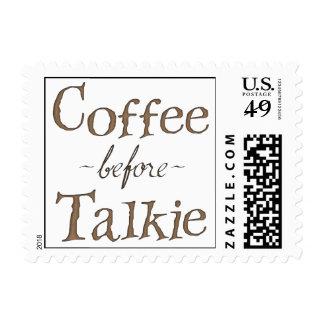 Coffee Before Talkie Postage