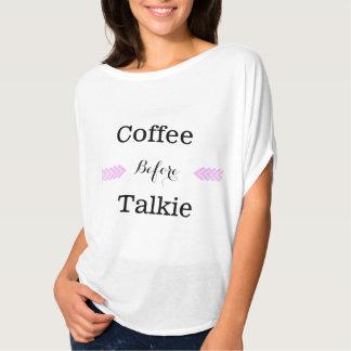 """Coffee Before Talkie"" Women's Lightweight T-shirt"