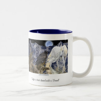 COFFEE BEST SHARED WITH A FRIEND Pegasus & Raven Two-Tone Coffee Mug