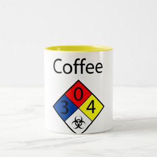 Coffee Biohazard MSDS Two-Tone Coffee Mug