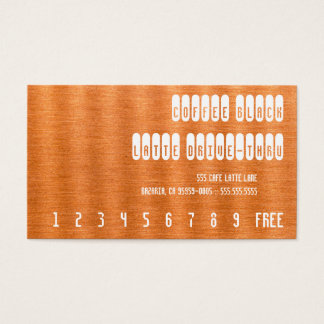 Coffee Black Re-Text on Copper Punchcard Business Card