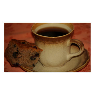 Coffee & Blueberry Banana Cake Business Card
