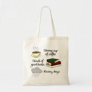 Coffee, Books & Rain Tote Bag