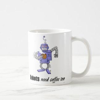 coffee bot classic white coffee mug