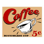 Coffee Bottomless Cup Post Cards