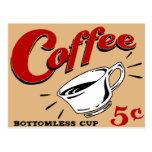 Coffee Bottomless Cup Postcard