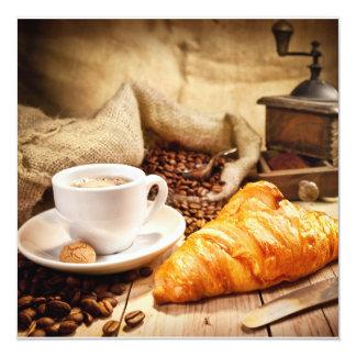 Coffee BREAK as A Postcard 5.25x5.25 Square Paper Invitation Card