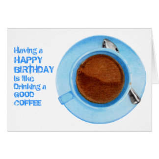 Coffee Break Birthday Card