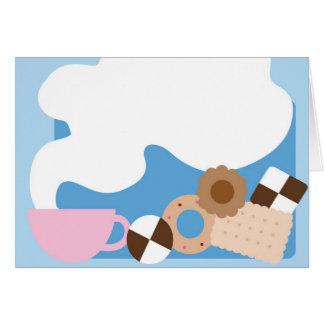 Coffee Break Blue Greeting Card