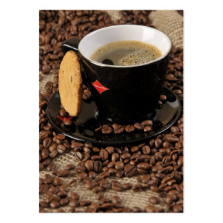 Coffee break large business cards (Pack of 100)