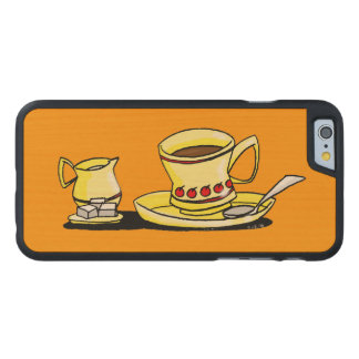 coffee break carved® maple iPhone 6 case