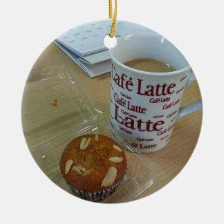 Coffee Break Ceramic Ornament