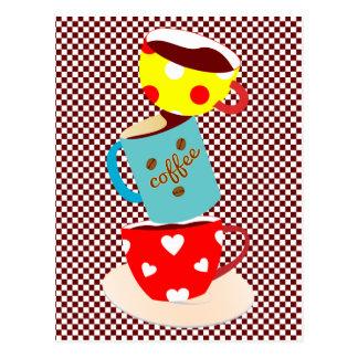 Coffee Break Checks Postcard
