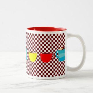 Coffee Break Checks Two-Tone Coffee Mug