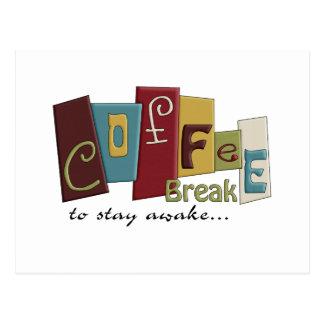 Coffee Break Design Postcard