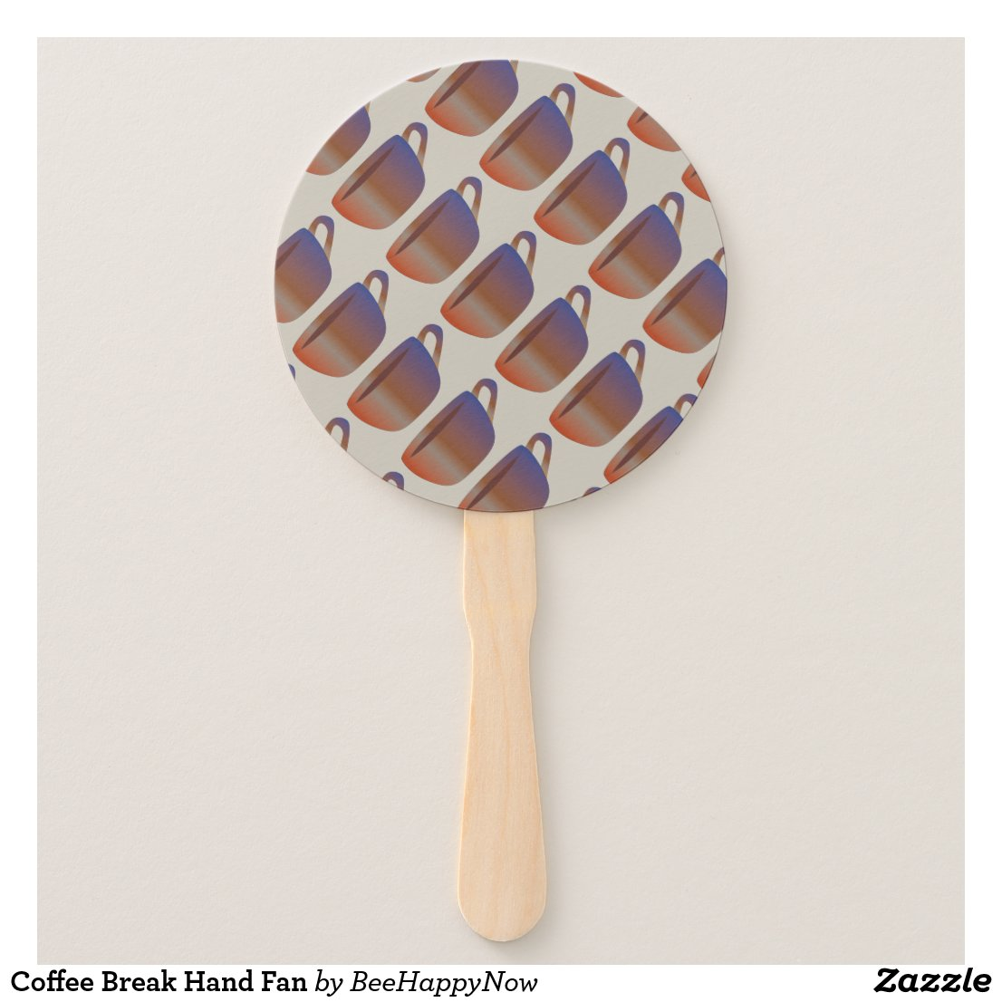 Coffee Break Hand Fan