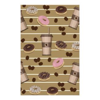 Coffee break pattern stationery