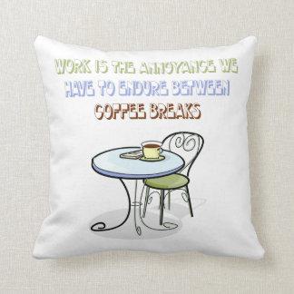 Coffee Break Throw Pillows