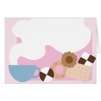 Coffee Break Pink Greeting Card