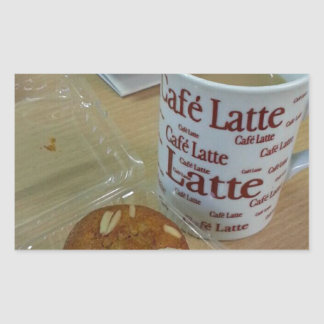 Coffee Break Rectangular Sticker