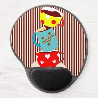 Coffee Break Stripes Gel Mouse Pad