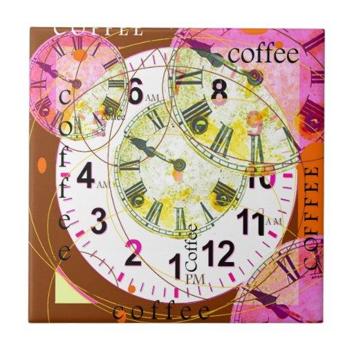 COFFEE BREAKS GUIDE CLOCKS BY Sharles Ceramic Tile