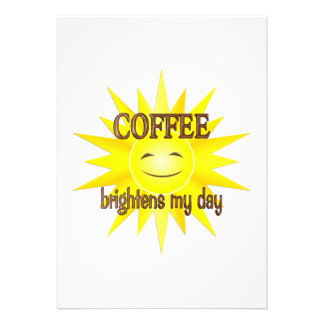 Coffee Brightens Personalized Announcements