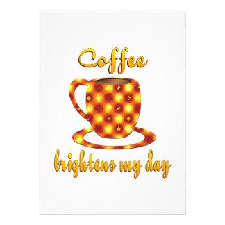 Coffee Brightens My Day Custom Invites