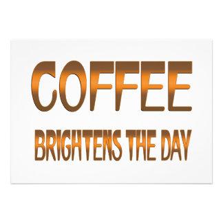 Coffee Brightens the Day Invitations