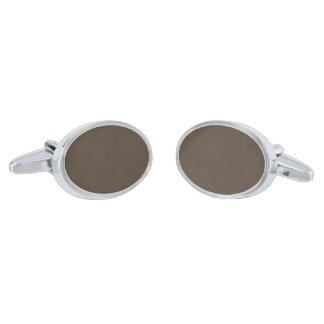 Coffee Brown Color Velvet Custom Home Casino Cufflinks