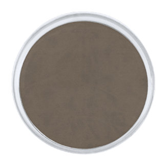 Coffee Brown Color Velvet Custom Home Casino Silver Finish Lapel Pin