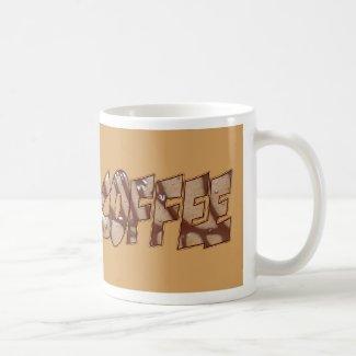 Coffee Brown Lettering Coffee Mug