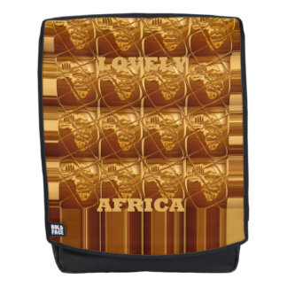Coffee Brown Lovely Africa Continent map design Backpack