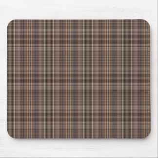 Coffee Brown Plaid Pattern Mouse Pad