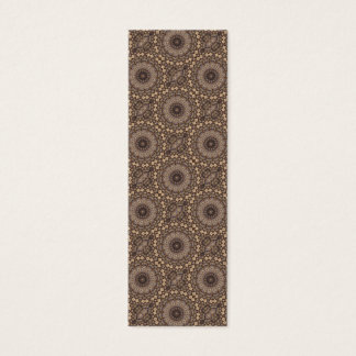 Coffee Brown Repeating Pattern Mini Business Card