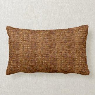 Coffee Brown Texture Print Lumbar Pillow
