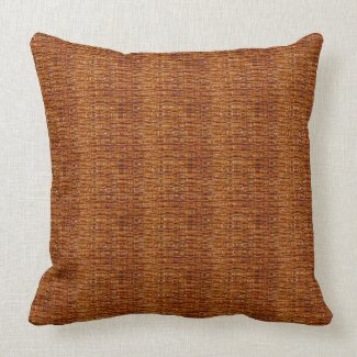 Coffee Brown Texture Print Throw Pillows