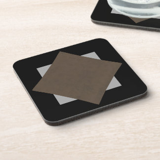 Coffee Brown Velvet Personalized Home Casino Beverage Coasters
