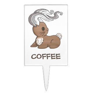 Coffee Bunny Cake Topper