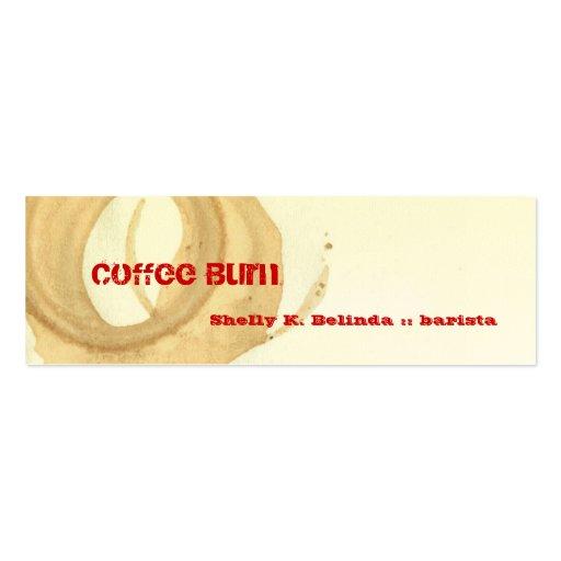 Coffee Burn Barista Business Card Template