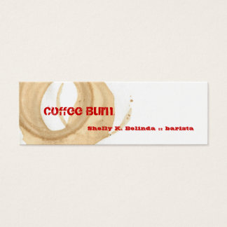Coffee Burn Barista Mini Business Card
