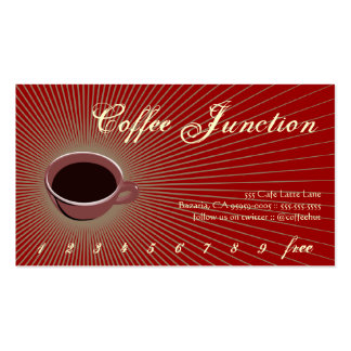 Coffee Burst Drink Punch / Loyalty Card Double-Sided Standard Business Cards (Pack Of 100)