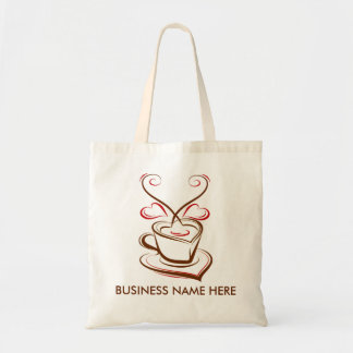 Coffee business advertising promotional budget tote bag