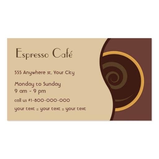 Coffee Business Card (back side)