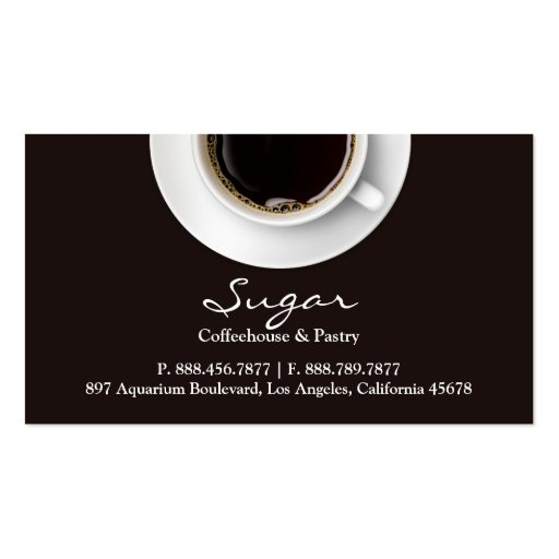 Coffee Business Card (front side)
