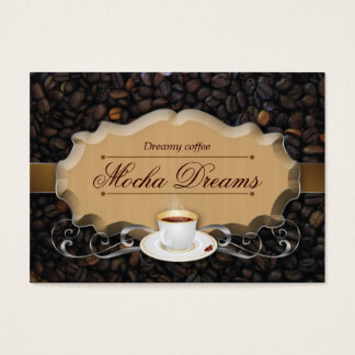 Coffee Business Card Beans Chocolate Caramel