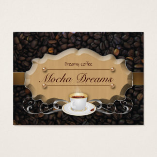 Coffee Business Card Beans 'n Latte Caramel