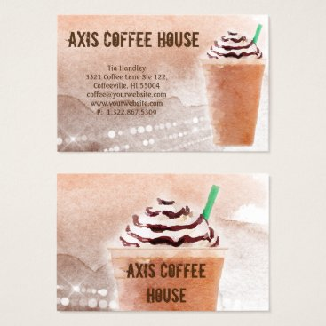 Professional Business Coffee Business Card Specialty