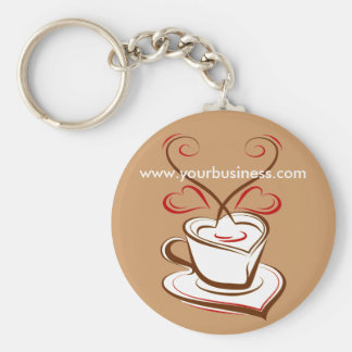 Coffee Business Promotional advertising keychain