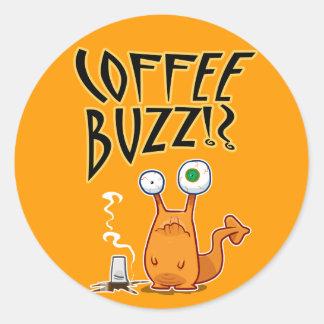 Coffee BUZZ!? Classic Round Sticker